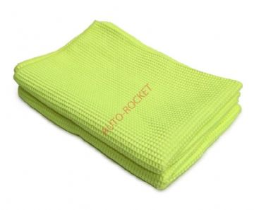 Waffle Microfibre Cloths - Yellow Size 56cm x 76cm Extra large x 2